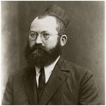 תמונה שחור לבן של מרדכי שמעון טפרברג