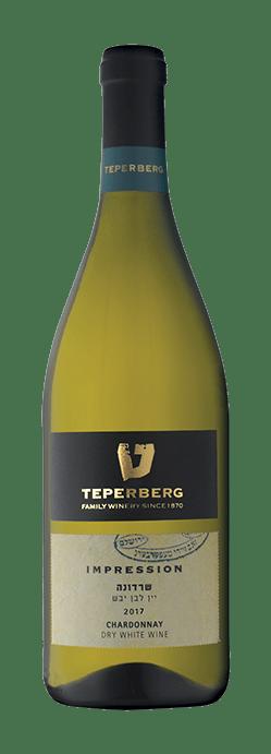 בקבוק יין שרדונה - יין לבן יבש 2017