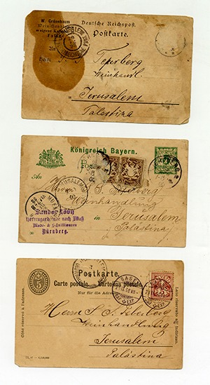 Postcards of correspondence with the Germans