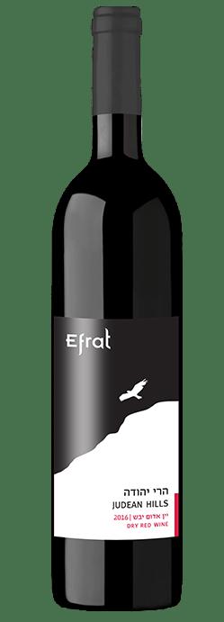 בקבוק יין הרי יהודה אדום יבש 2016