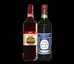 שני בקבוקי יין מסדרת יינות מתוקים