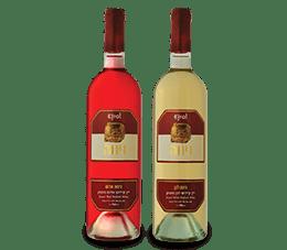 בקבוקי יין נינוה אדום ולבן