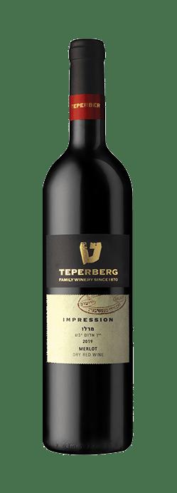 בקבוק יין אדום יבש, מרלו, בציר 2019, סדרת אימפרשן